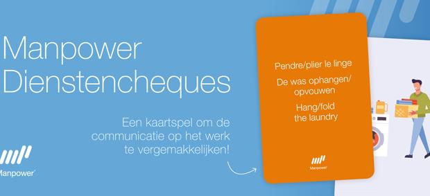 Een set kaarten in 3 talen om de communicatie van de huishoudhulpen op het werk te vergemakkelijken